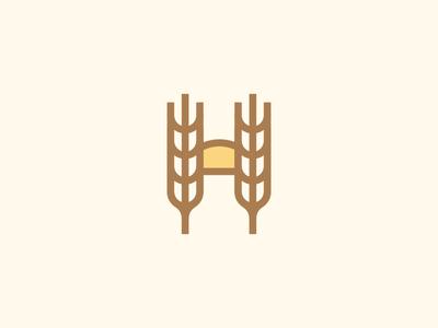 Holmgren Family Farm (Feedback Appreciated!) midwest identity branding logo badge mark type letter h sun farm wheat