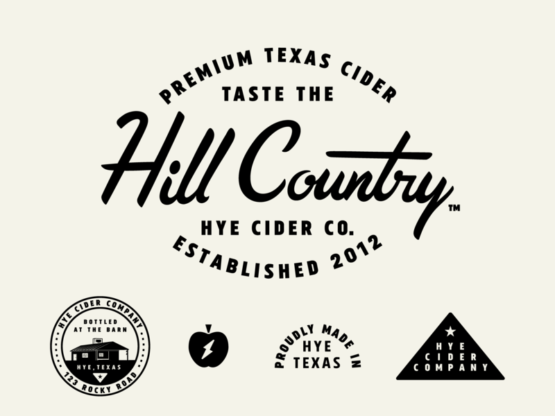 Hye Cider Co  - 1 by Chris Ganz on Dribbble