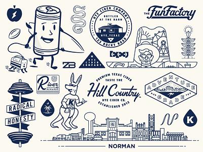 2019 Recap cider freelance oklahoma city oklahoma texas beer surf branding illustration