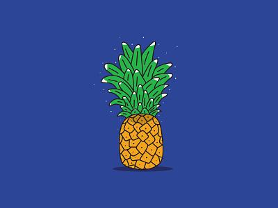 Pineapple fruits pineapple design illustrator vector illustration