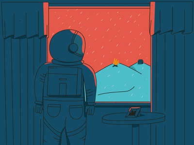 La lluvia digitalart design rain illustrator vector illustration