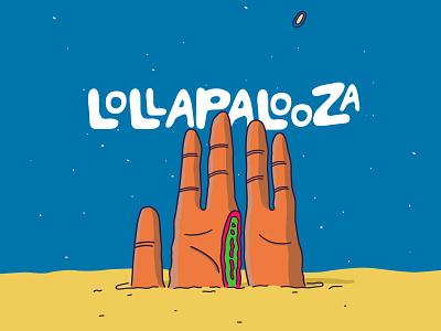 Lollapalooza color surrealism digital illustration digitalart hand lettering adobe design illustrator vector illustration