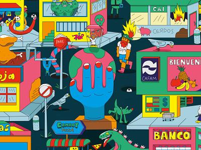De Barrio barrio popular digitalart adobe design illustrator vector illustration