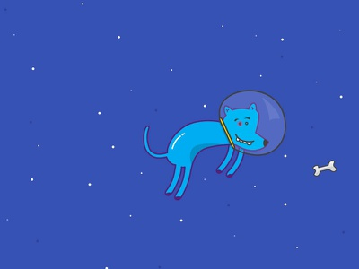 Can Space bone space can blue vector illustration