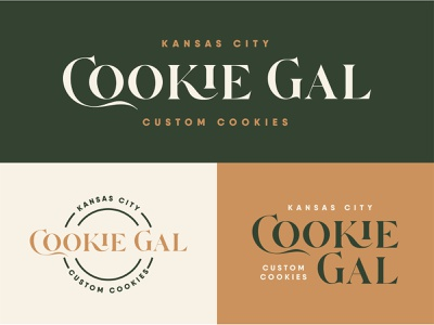 KC Cookie Gal Logo logo design branding brand identity logo design logos kansas city bakery logo cookie branding logo