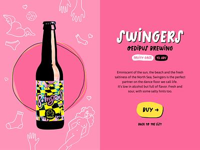 Choose Your Beer product design typogaphy landing web cartoon illustration cartooning cartoons beer website concept website design russia figmadesign figma webdesign website ui design ux design ux  ui ui ux