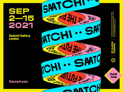 Saatchi Gallery Art Exhibition Poster after effects cinema 4d kinetic typography typography visual poster design design branding motion exhibition poster graphic design 3d animation motion graphics