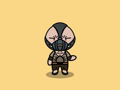 Bane character yellow procreate kawaii batman