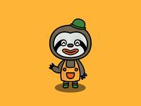 Animal Crossing Gandulio character sloth animal yellow procreate app procreate animal crossing