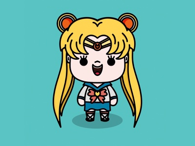 Sailor Moon kawaii animeart character sailor moon procreate app procreate manga anime