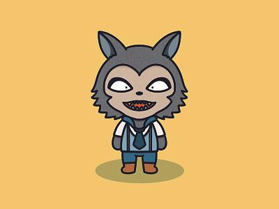 Legoshi Kawaii character illustration wolf kawaii yellow procreate beastars