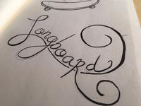 Longboard lettering sketch
