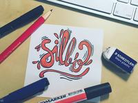 Silbo lettering