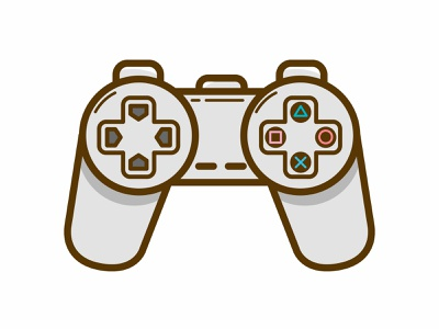 PS1 Controller playstation videogame branding ui logo vectorial vector illustration
