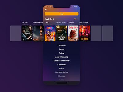Search 🔍 ios oscar ux ui movie app mobile search
