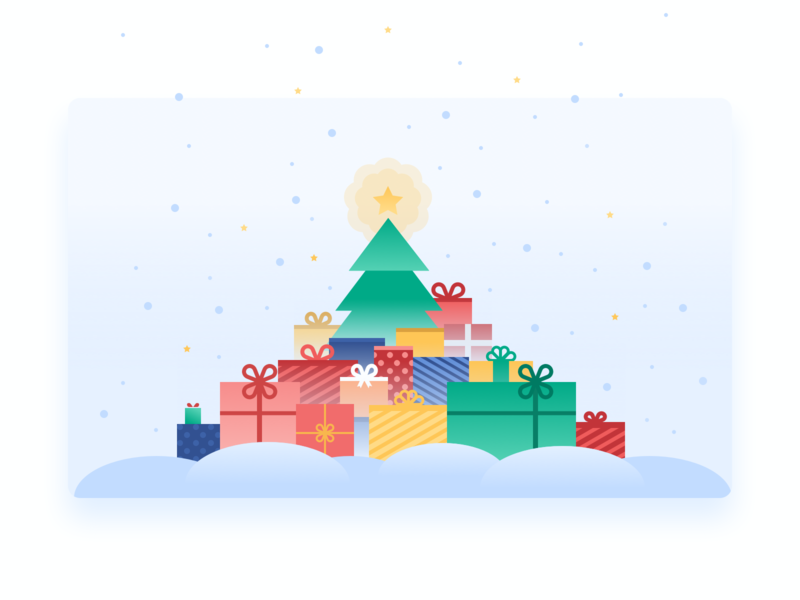 Superjob new year picture 💚 superjob new year card new year 2019 interface illustration design