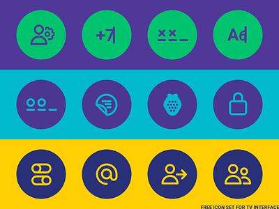 Free icon set for TV interface 💛 free icon vector tv netflix illustration cinema interface design movie ui