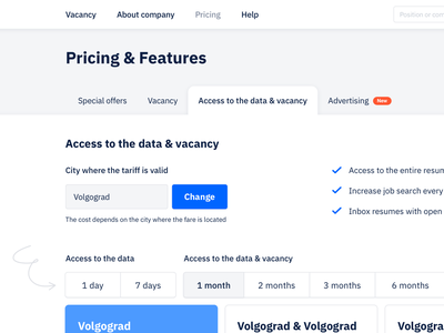 Pricing & Features 🧩 app interface sketch web uiux ui pricing plan pricing page pricing