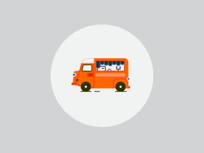 food truck ui ux logo app food app foodtruck food truck print design vector illustration art
