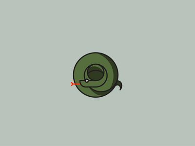 Snake snake illustration design snake logo animal snake logo icon vector illustration art
