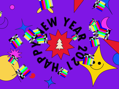 Happy New Year motion file missing snow illustration 2021 motiongraphics new year animation vector art