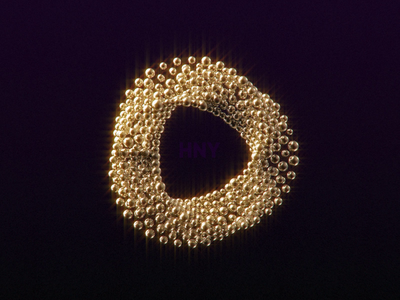 HNY new year 2021 circle 3d ring abstract rendering animated gif motiongraphics arnold render design