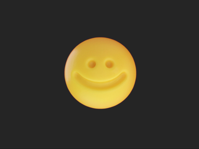 Smile emoji animated gif face 3d animation character expression emoji icon 3d art art