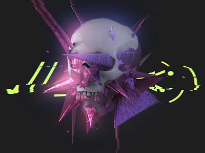 Skull cgart motion graphic animated ani motion 3d animation skull 3d art 3d art
