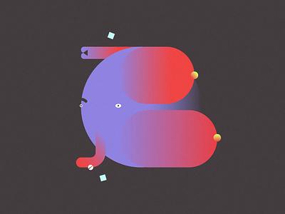 B typogaphy type typography animation motion 36daysoftype design vector illustration art