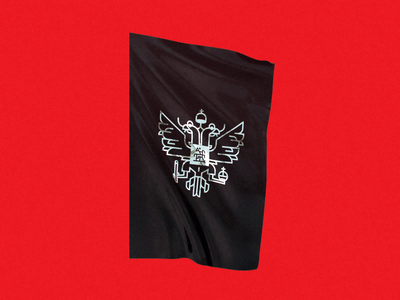 alternative saint bird eagle banner heraldry herb coat of arms motion motion graphics wind russia moscow flag