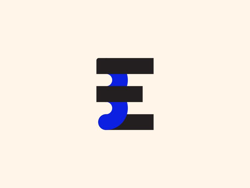 Brand E-Media typo typo logo art icon typography branding logo vector design