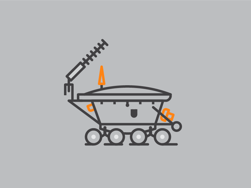 Lunokhod 1 minimal rover logo spaceship moon lineart minimalism space lunokhod vector illustration art