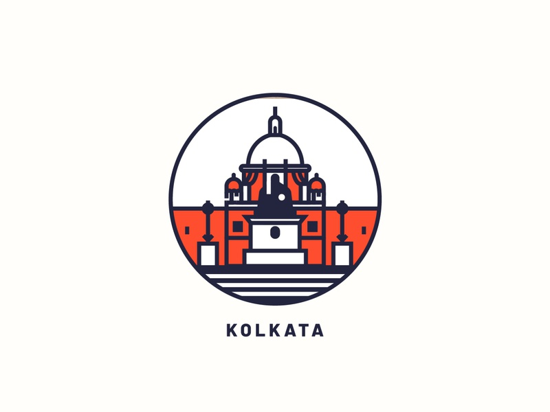 Kolkata logo illustration art city illustration print city kolkata design vector illustration art