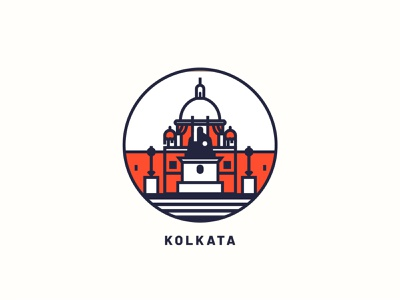 Kolkata logo illustration art city illustration print city kolkata design vector illustration art