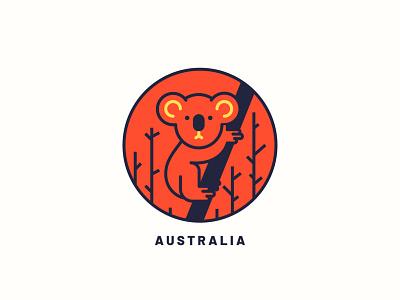 Australia print design print wildfire fire vector globalwarming koala bushfire australia illustration art