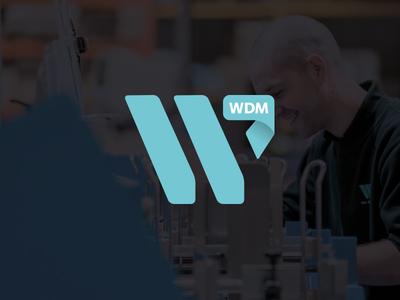 WDM Logo mark design wdm logo