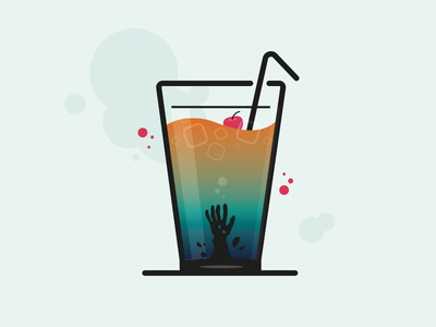 Zombie Cocktail horror illustration drink alcohol cocktail zombie