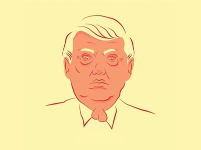 Trump graphic president america us design illustration trump donald