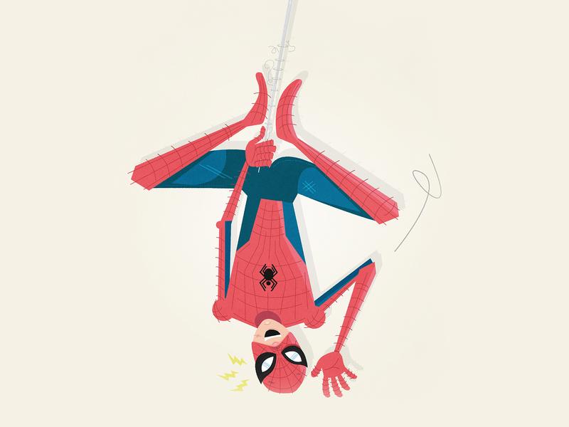 Spider-man spider-man comics web ps4 disney marvel design character vector illustration spiderman