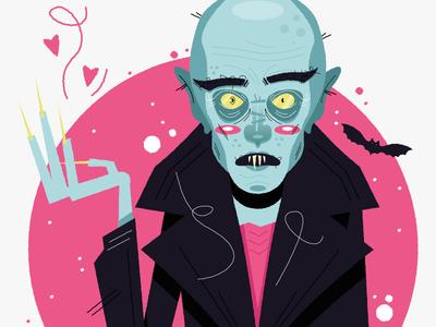 I'm all out of love, I'm so Nosferatu newcastle vector character illustration horror spooky nosferatu halloween vampire