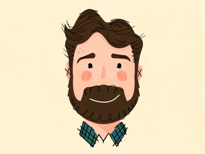 I Cut My Hair! illustration portrait beard character characterdesign avatar