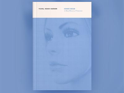 Homo Deus Cover Design design yuval noah harari homo deus ai book art minimal blue book