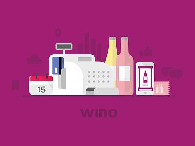Wino   Wino world mobile application cash register communication bottle wine event app