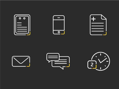 Medical Communication Icons icon minimal simple communicate prescription clock letter message iphone