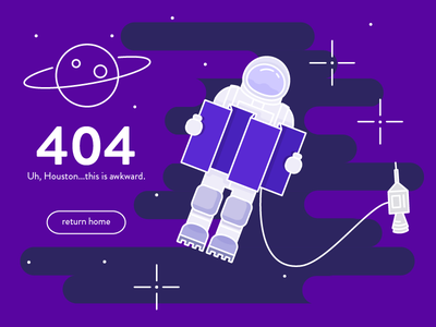 Daily UI  #008 008 404 vector illustration space lost in space daily ui
