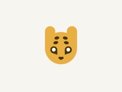 Seshat logo graphic emblem logotype branding braun orange jaguar leopard cute cat illustration minimal app flat vector logo