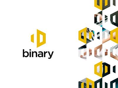 Binary Logo branding logo binary
