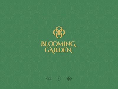 Blooming Garden Logo minimalistic branding logo