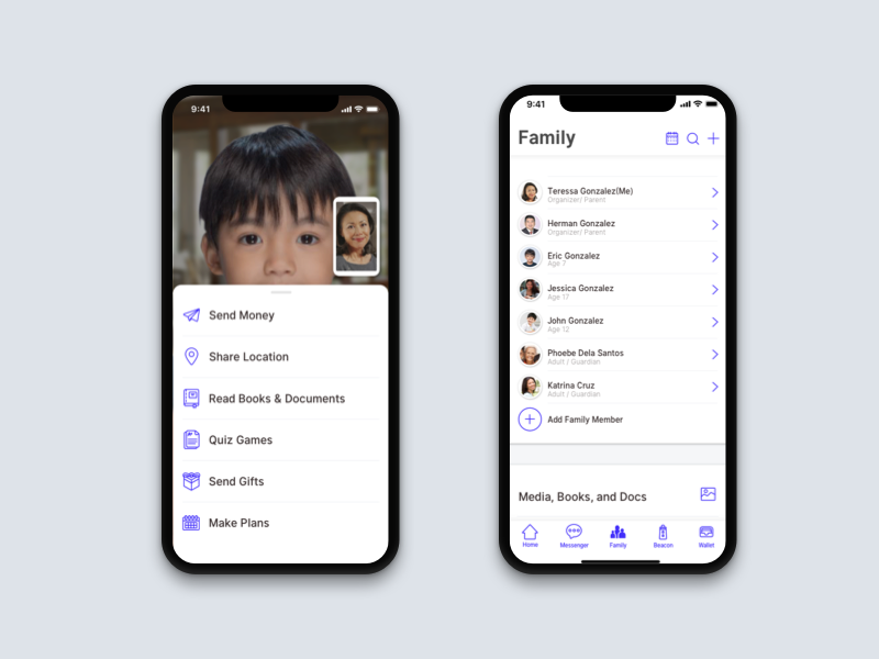 Milya ux ui product payment mobile messenger family