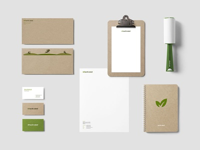 Earth Rated Collateral identity leaf earth rated poop bags eco-friendly environmentally-friendly earth marketing collateral stationery logo branding